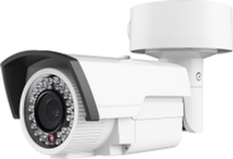 White 2 megapixel bullet camera dual voltage