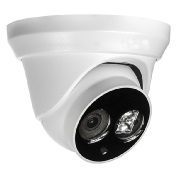 White dome 4 megapixels IP camera